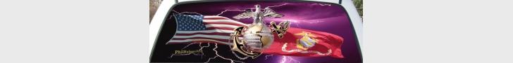 Custom USMC Salute Mural
