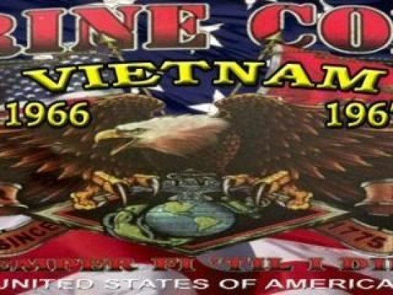 Marine Corps Vietnam 1966 - 1967 rear window mural