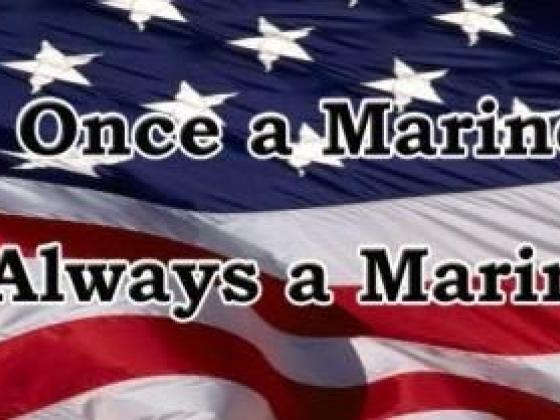 Once a Marine Always a Marine rear window graphic
