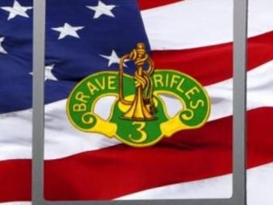 Army 3rd Cavalry Regiment Rear Window Graphic