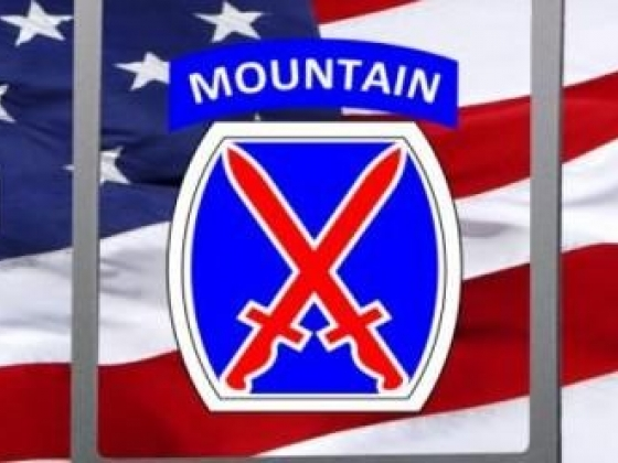 Army 10th Mountain Division truck rear window graphic
