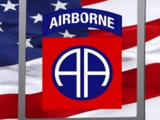 Army 82nd Airborne Division truck rear window graphic mural