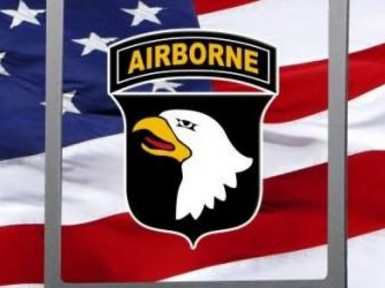 Army 101st Airborne Division truck rear window graphic mural